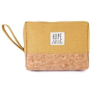 Handbags - 💖Hope Cosmetic Pouch Mustard Cork Accent